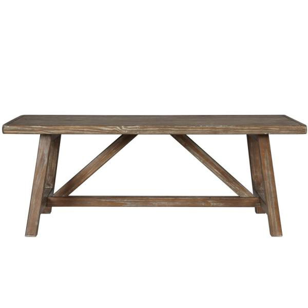 Brussels 48 in. Natural Large Rectangle Wood Coffee Table