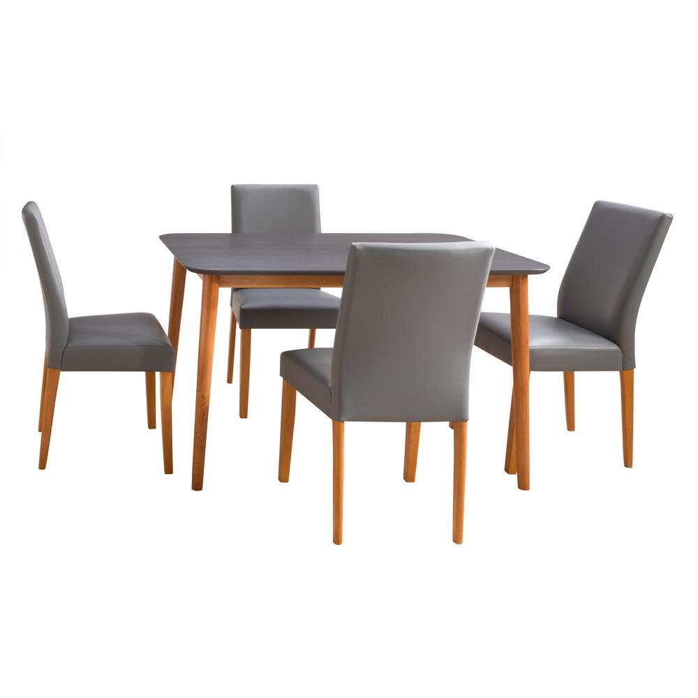 Alpine Cherry and Gray 5-Piece Dining Set