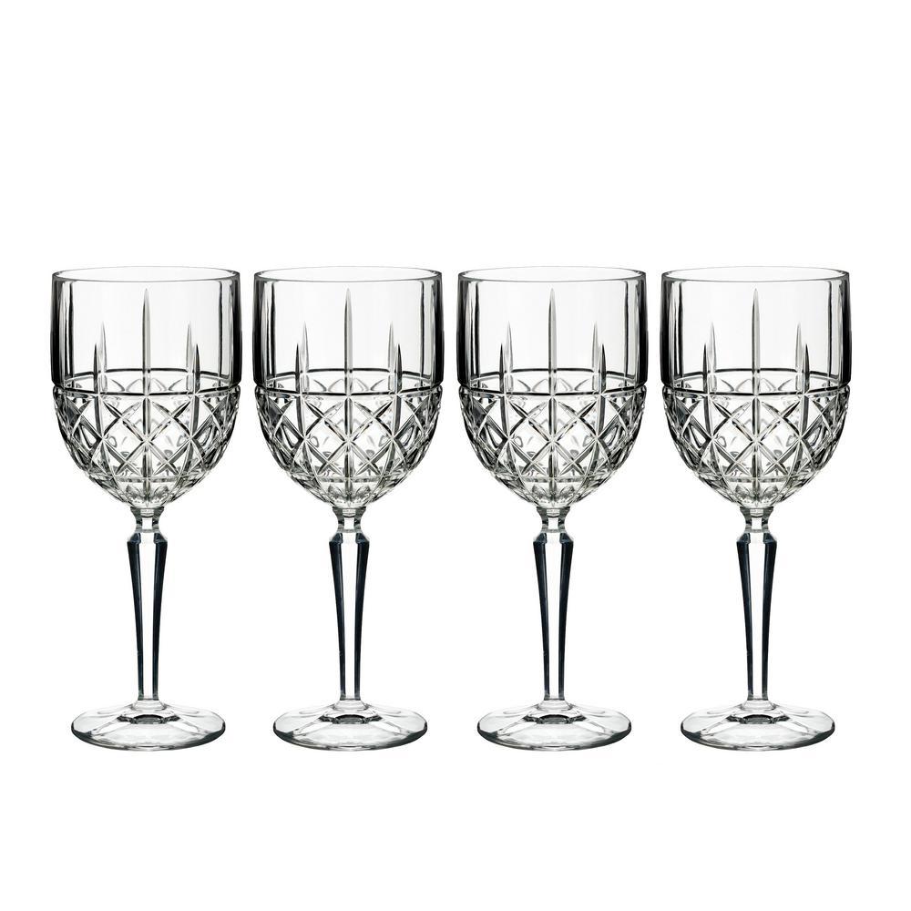 Brady 12 fl. oz. Crystal White Wine Glass Set (Set of 4)