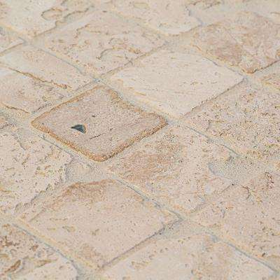 Light Travertine 12 in. x 12 in. x 8 mm Mosaic Floor/Wall Tile