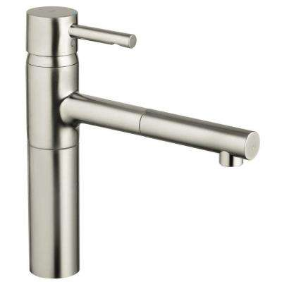 Essence Single-Handle Pull-Out Sprayer Kitchen Faucet in SuperSteel