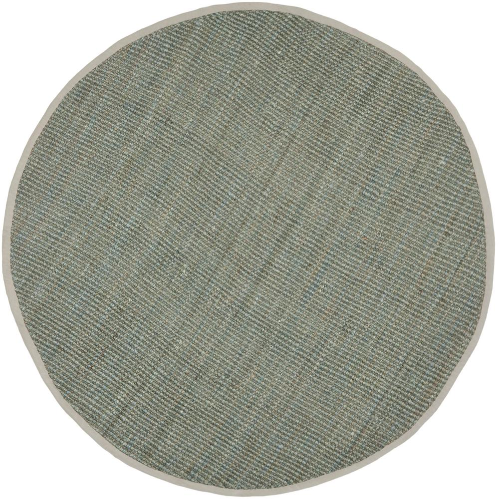 safavieh natural fiber gray 9 ft x 9 ft round area rug nf730b 9r the home depot. Black Bedroom Furniture Sets. Home Design Ideas