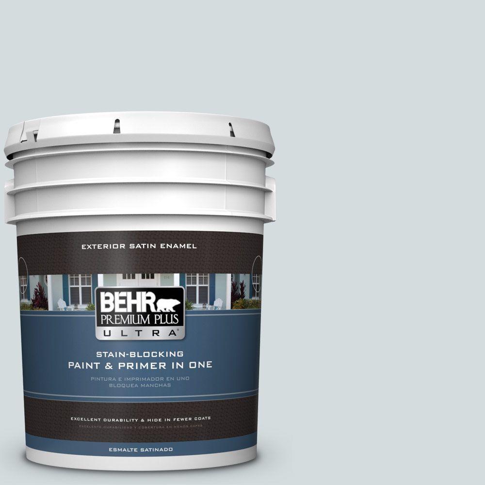 BEHR Premium Plus Ultra 5-gal. #PPU12-13 Urban Mist Satin Enamel Exterior Paint