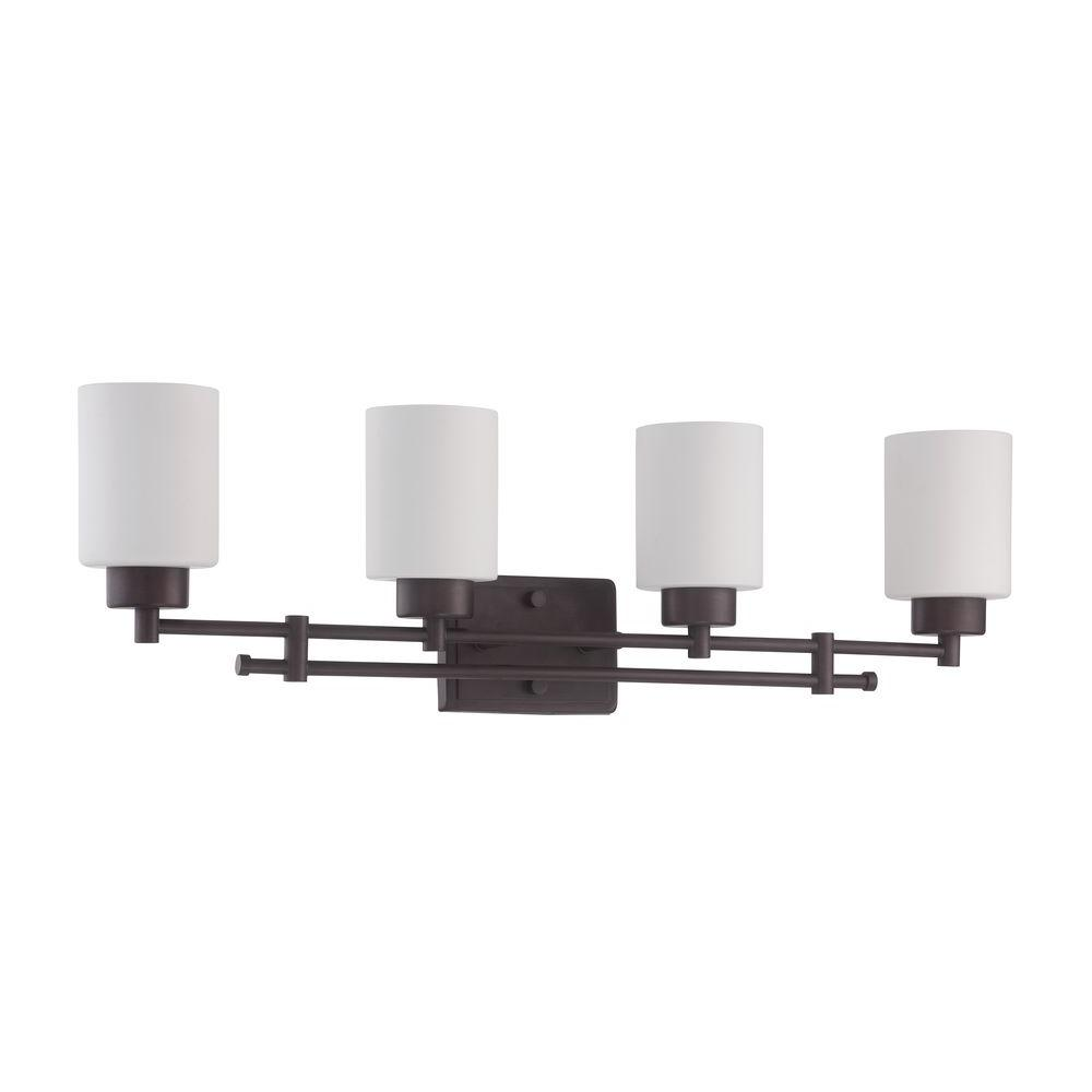 Ledbury 4-Light Provincial Bronze Vanity Light