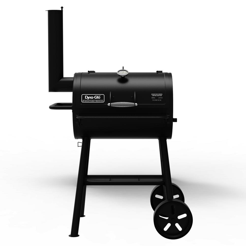 Heavy Duty Compact Barrel Charcoal Grill in Black