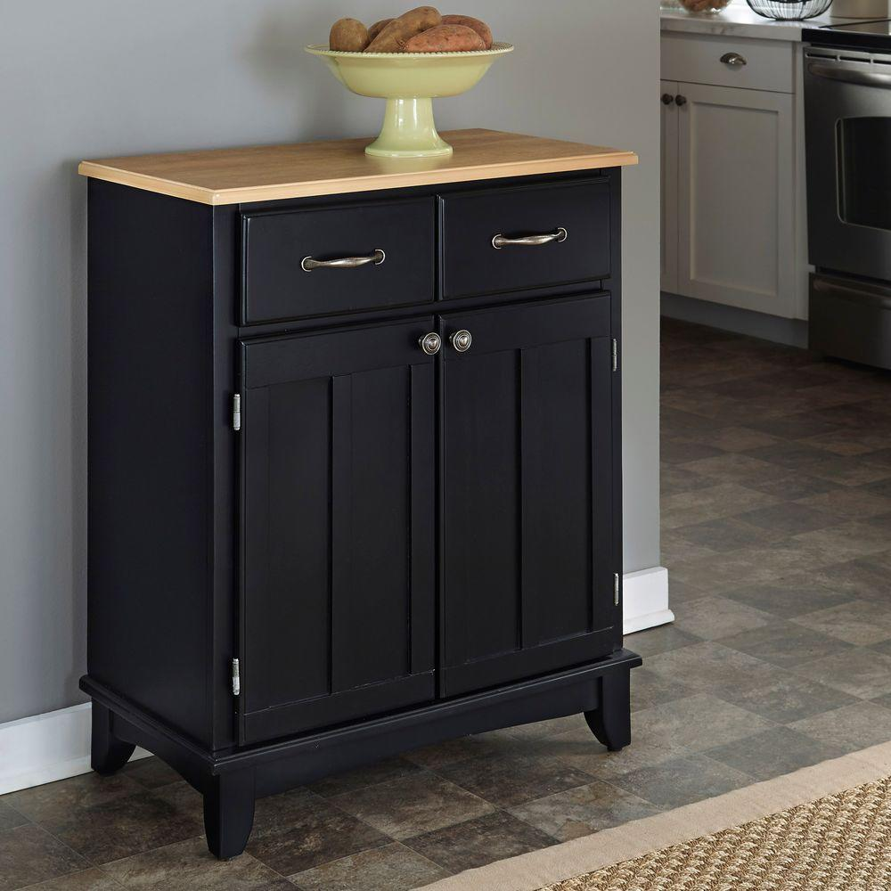 Home Styles Black and Natural Buffet