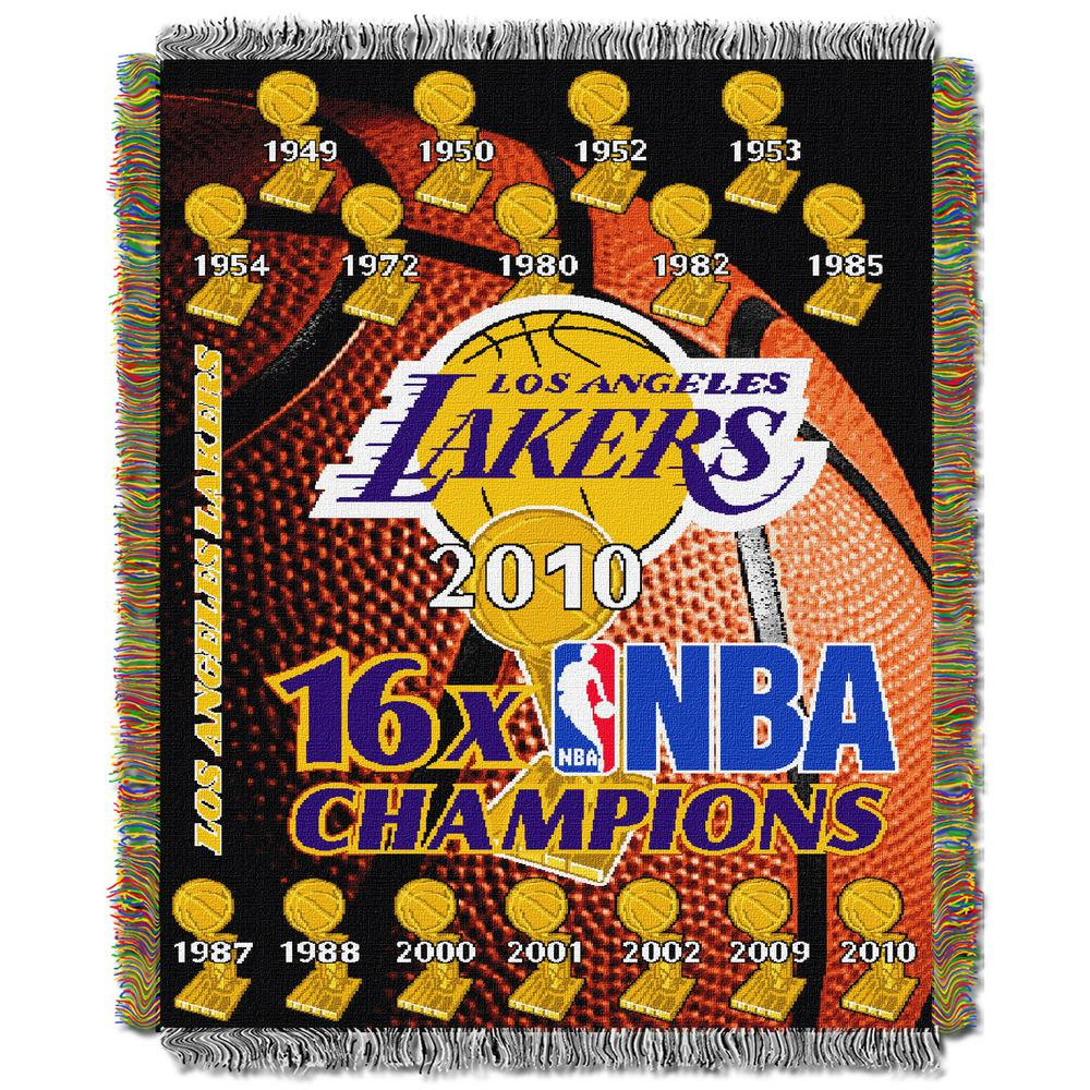 Lakers Commemorative Multi Color Polyester Tapestry throw
