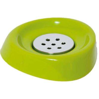Bath Soap Dish Cup Chrome Parts Lime Green