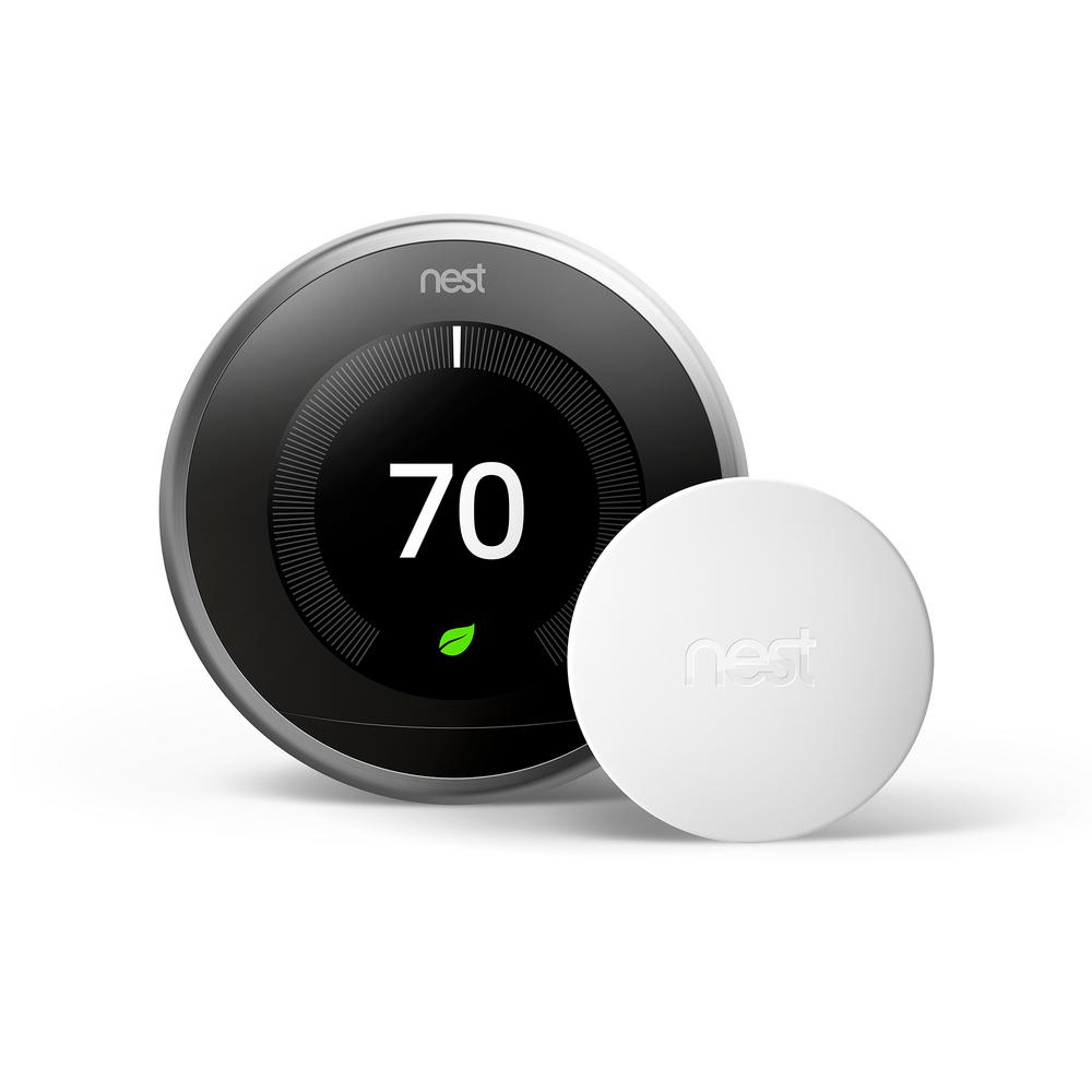 Google Nest Learning Thermostat 3rd Gen in Stainless Steel and ...