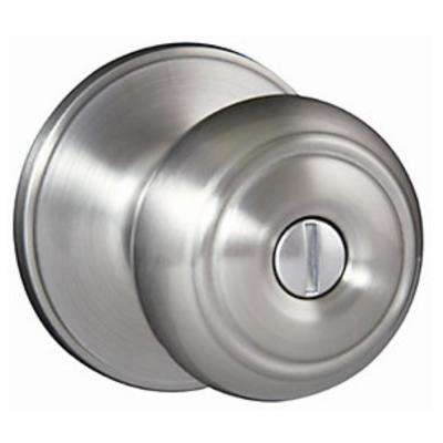 Bon Hartford Satin Nickel Privacy Bed/Bath Door Knob