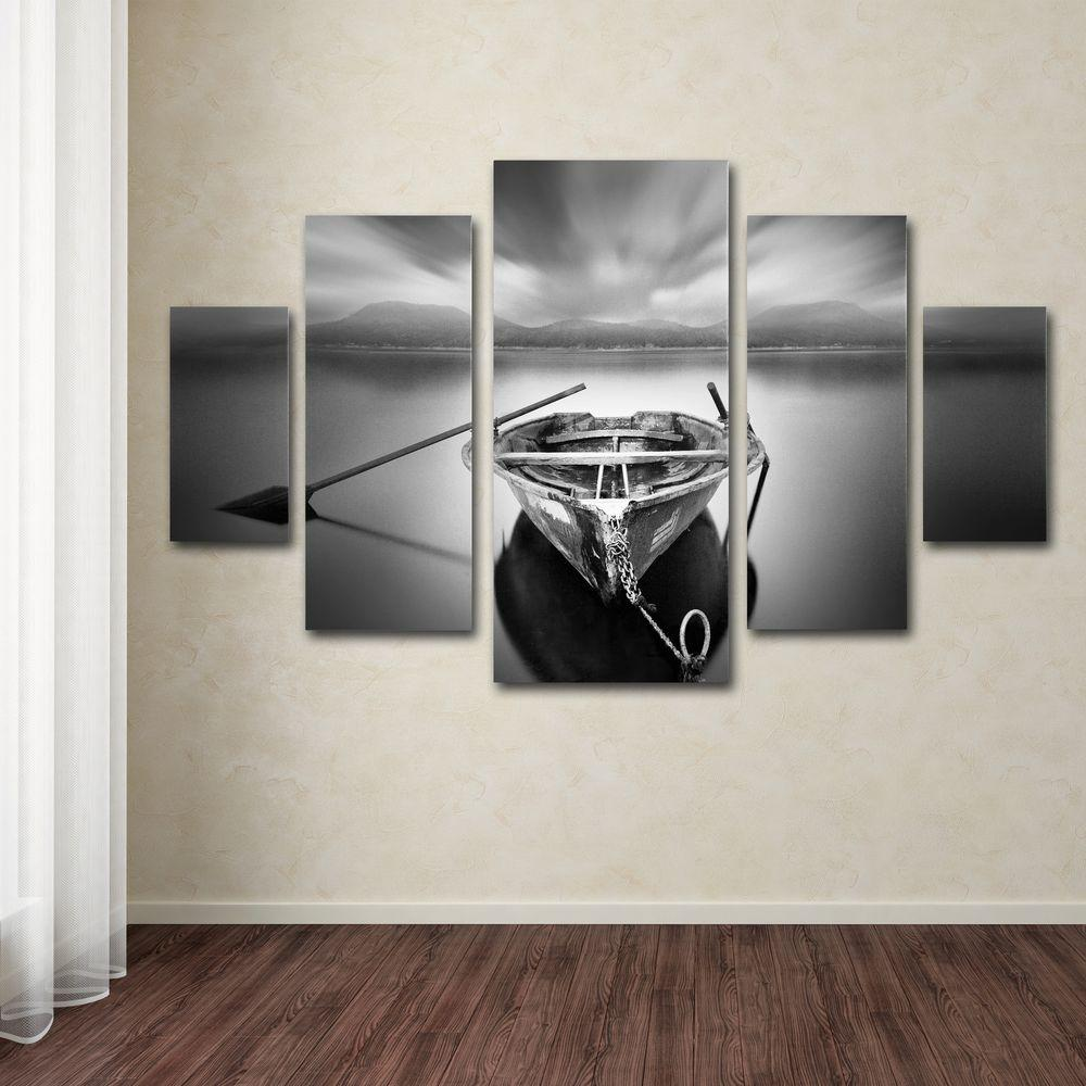 Wall Decor Set Of 5 : Trademark fine art ready by moises levy panel wall