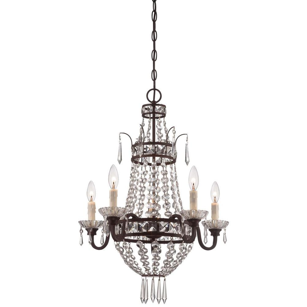 Minka Lavery 5 Light Deep Lahtan Bronze Mini Chandelier