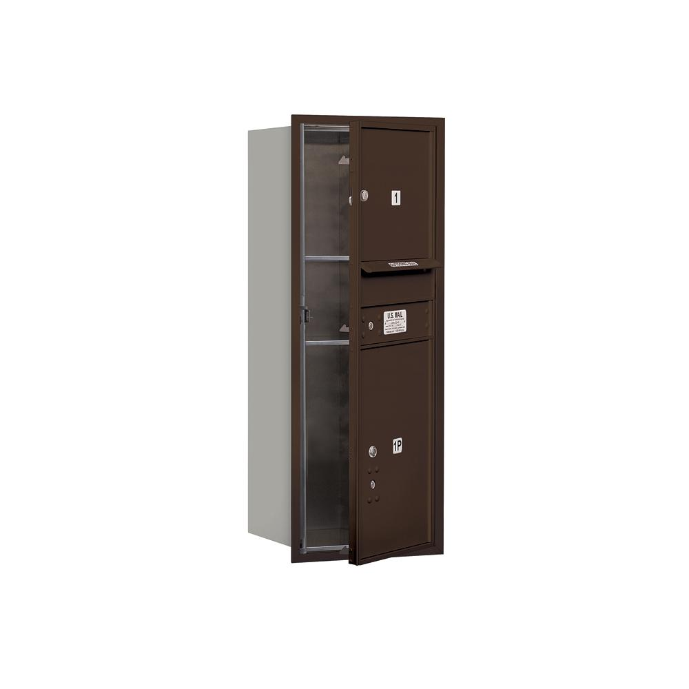3700 Horizontal Series 1-Compartment with 1-Parcel Locker Recessed Mount Mailbox