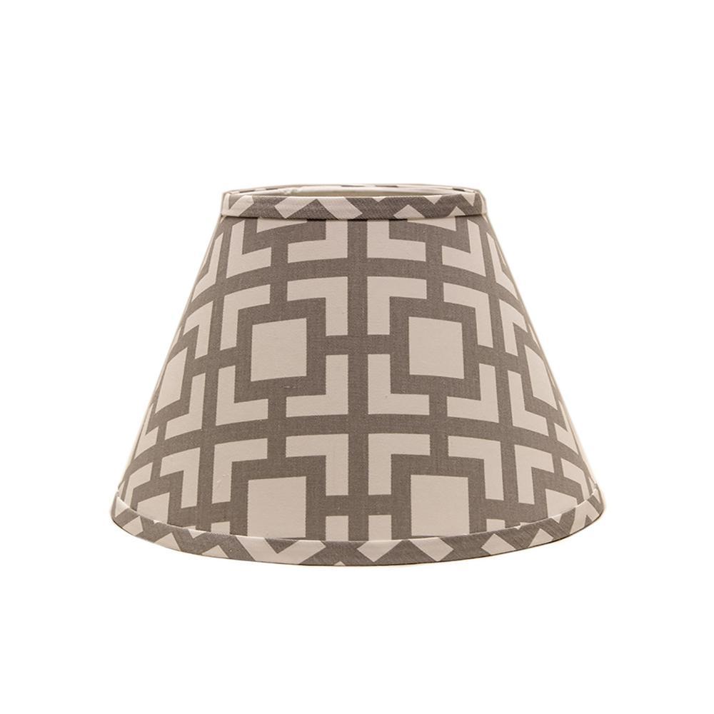6 in. x 5.55 in. Gray Lamp Shade
