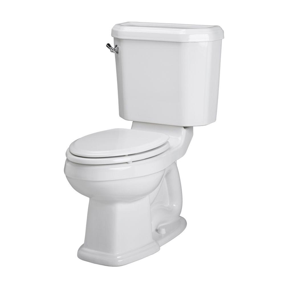 American Standard Portsmouth Champion 4 2-piece 1.6 GPF Right Height Elongated Toilet in White