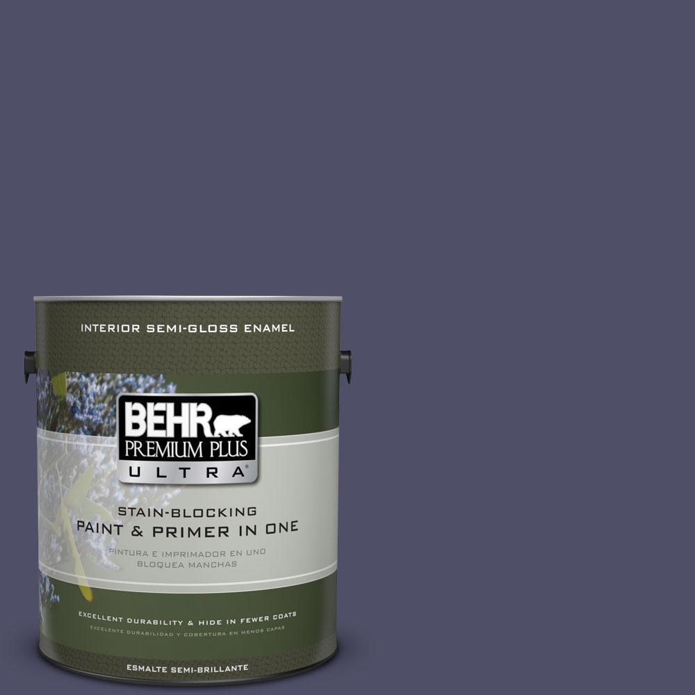 1-gal. #640F-7 Academy Purple Semi-Gloss Enamel Interior Paint