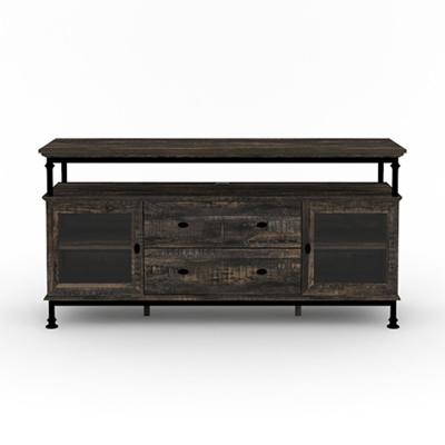Canal Street 60 in. Carbon Oak Entertainment Center with 2-Drawers Fits TV's up to 60 in.