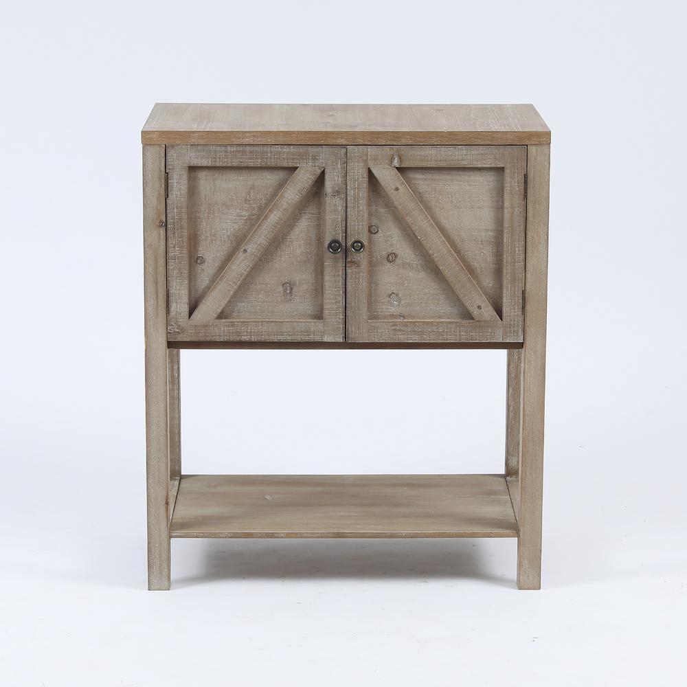 Wooden Farmhouse Storage Cabinet