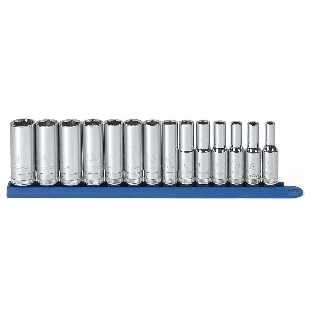 GearWrench 3 8 In Drive 6 Point SAE Deep Socket Set 11