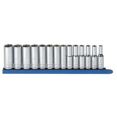 3/8 in. Drive 6-Point SAE Deep Socket Set (11-Piece)