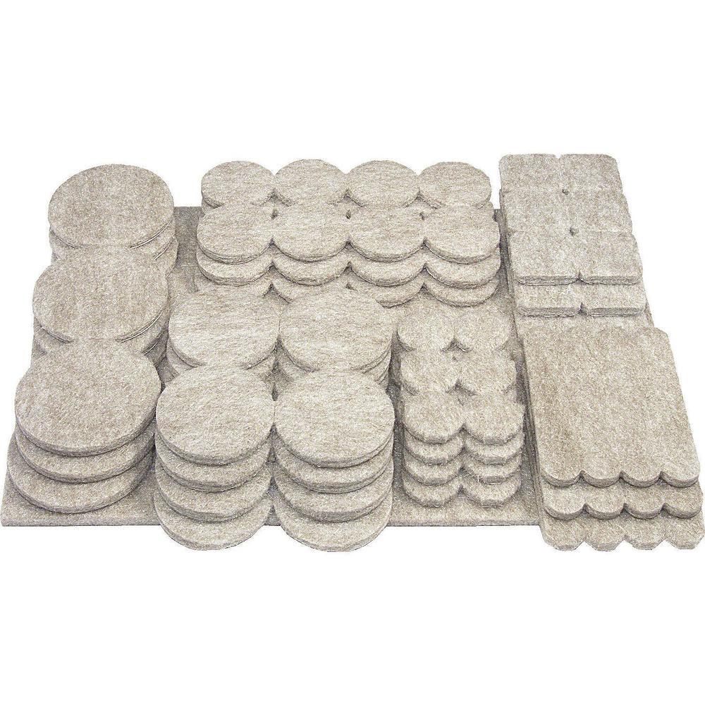 Assorted Self-adhesive Felt Pads (105-Pack)