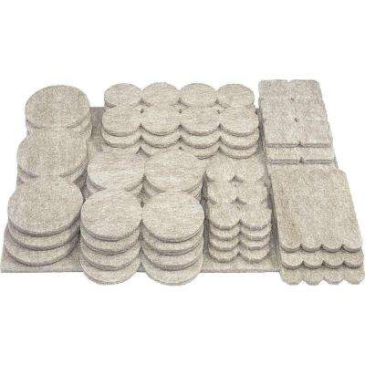 Assorted Self-adhesive Felt Pads (105-Pack)