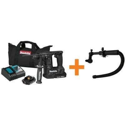 18V LXT Sub-Compact Brushless Cordless 11/16 in. Rotary Hammer Kit, accepts SDS-PLUS Bonus Dust Extraction Attachment
