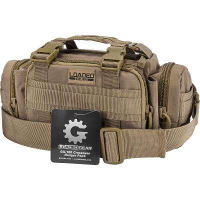 Loaded Gear GX-100 Small Flat 8 in. Dark Earth Ballistic Nylon Crossover Ranger Pack