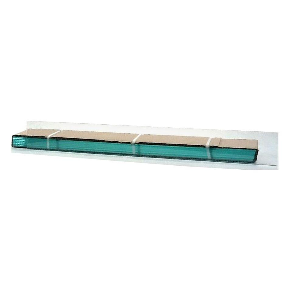 TAFCO WINDOWS 22.25 in. x 4 in. Jalousie Slats of Glass with Clear Polished Edges 5/CA