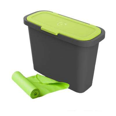 2.4 Gal. Portable Kitchen Compost Caddie with Corn Bags