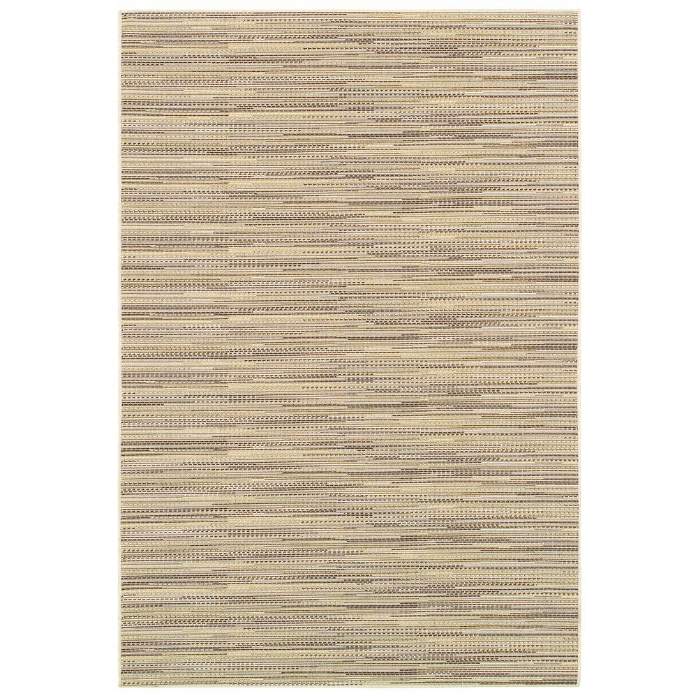 Monaco Larvotto Sand-Multi 8 ft. x 11 ft. Indoor/Outdoor Area Rug