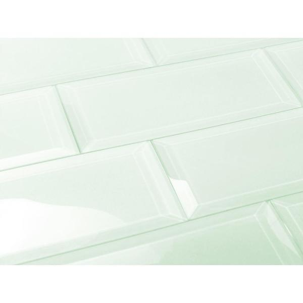 ABOLOS Subway 3 in. x 12 in. Rectangle Green Beveled Glossy