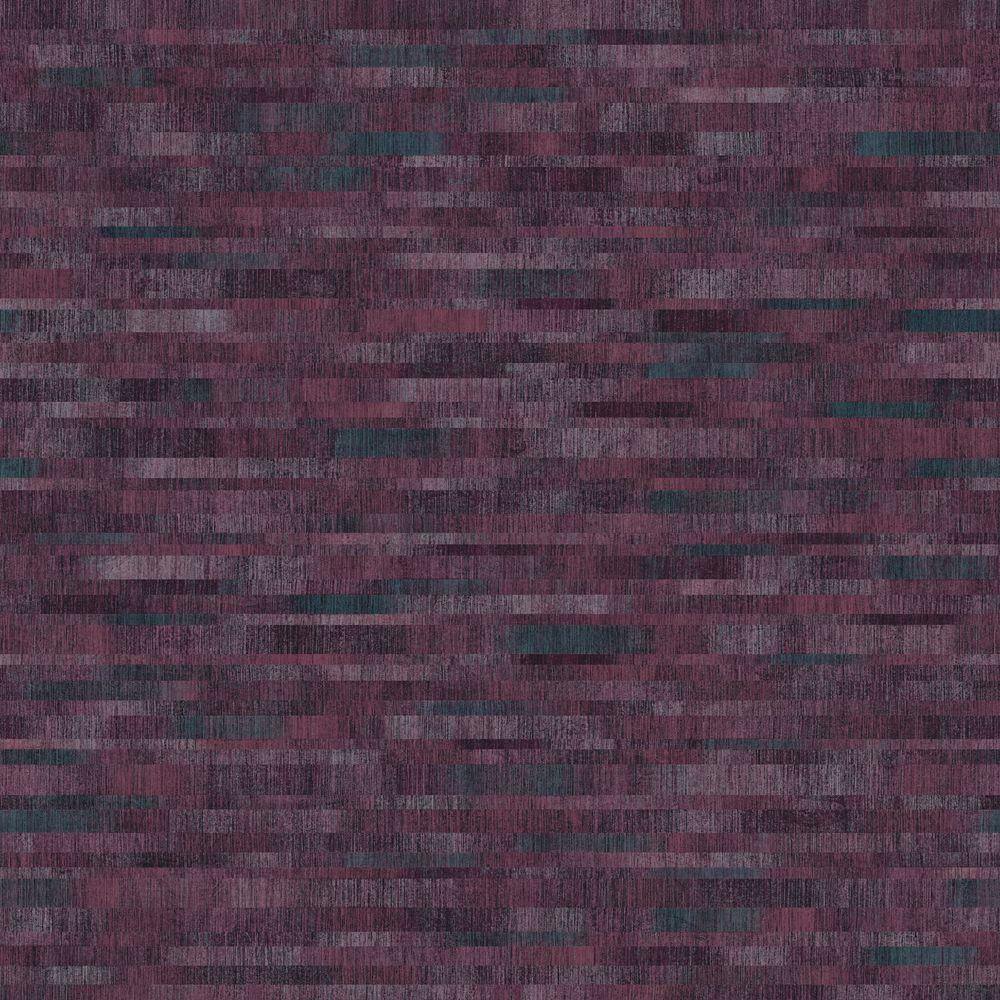 The Wallpaper Company 56 sq. ft. Purple Mini Subway Tiles Wallpaper