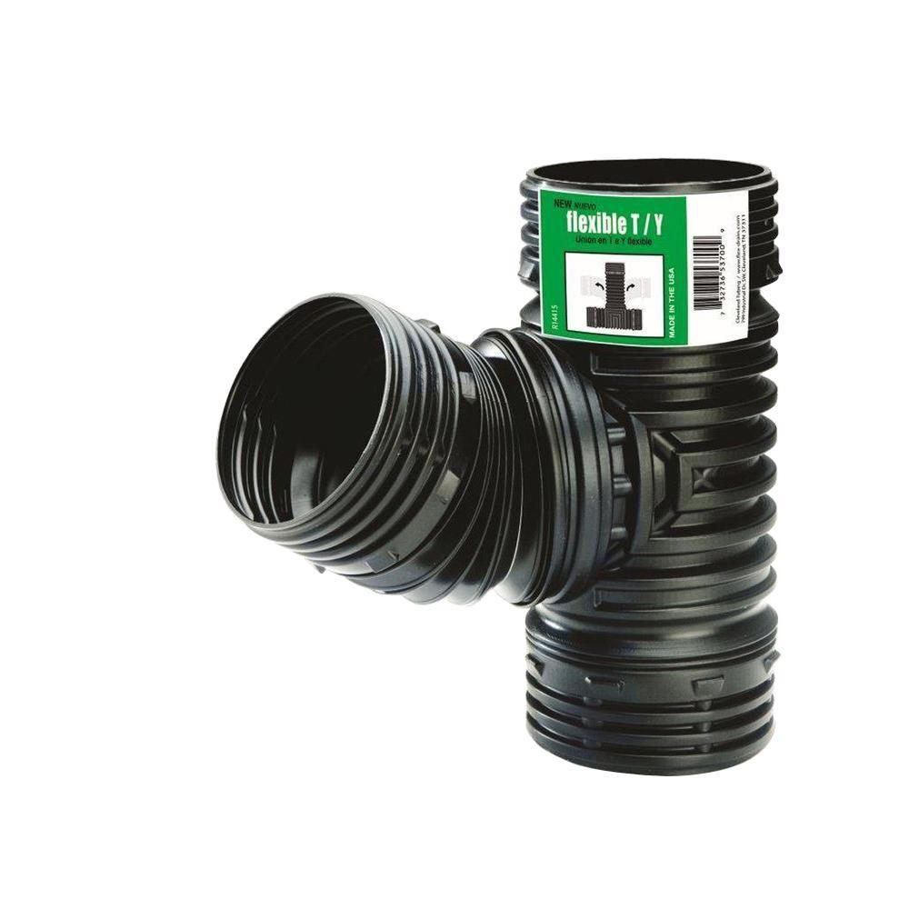 4 in. Polypropylene DWV Flexible Tee/Wye