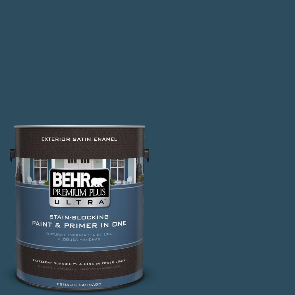 BEHR Premium Plus Ultra 1-gal. #540F-7 Velvet Evening Satin Enamel Exterior Paint