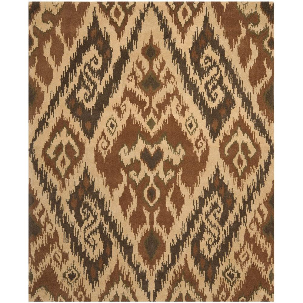 Capri Multi/Brown 6 ft. x 9 ft. Area Rug