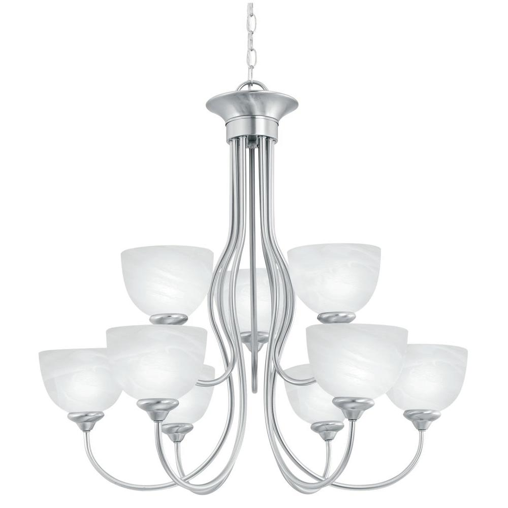 Thomas Lighting Tahoe 9 Light Brushed Nickel Hanging Chandelier