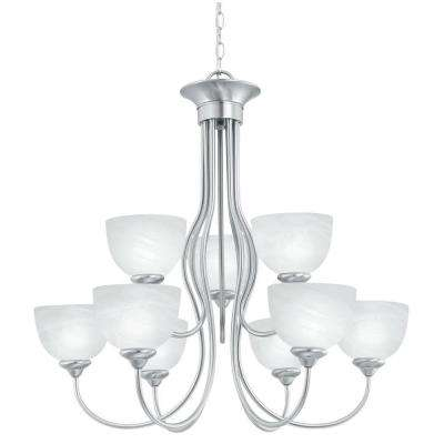 Tahoe 9-Light Brushed Nickel Hanging Chandelier