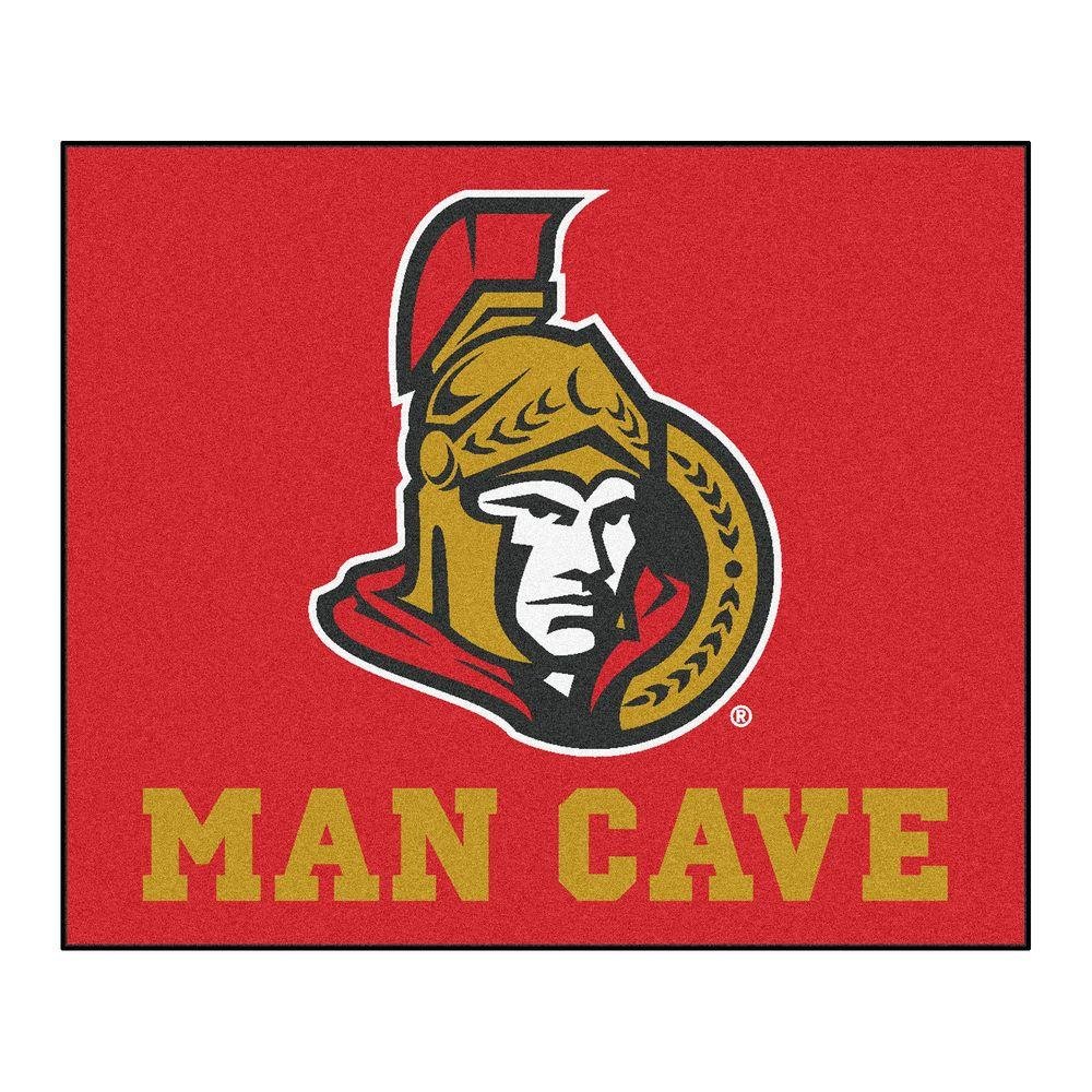 Fanmats Ottawa Senators Red Man Cave 5 Ft X 6 Area Rug