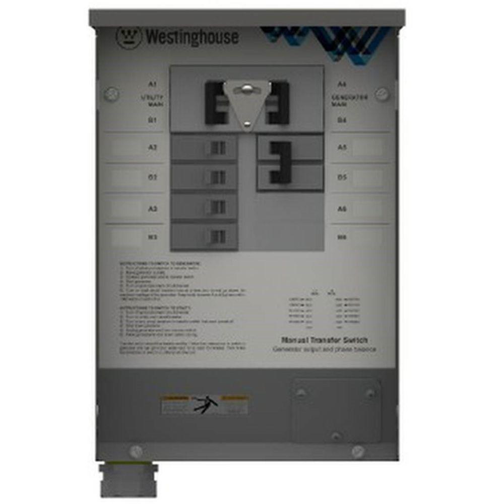 30-Amp Manual Transfer Switch