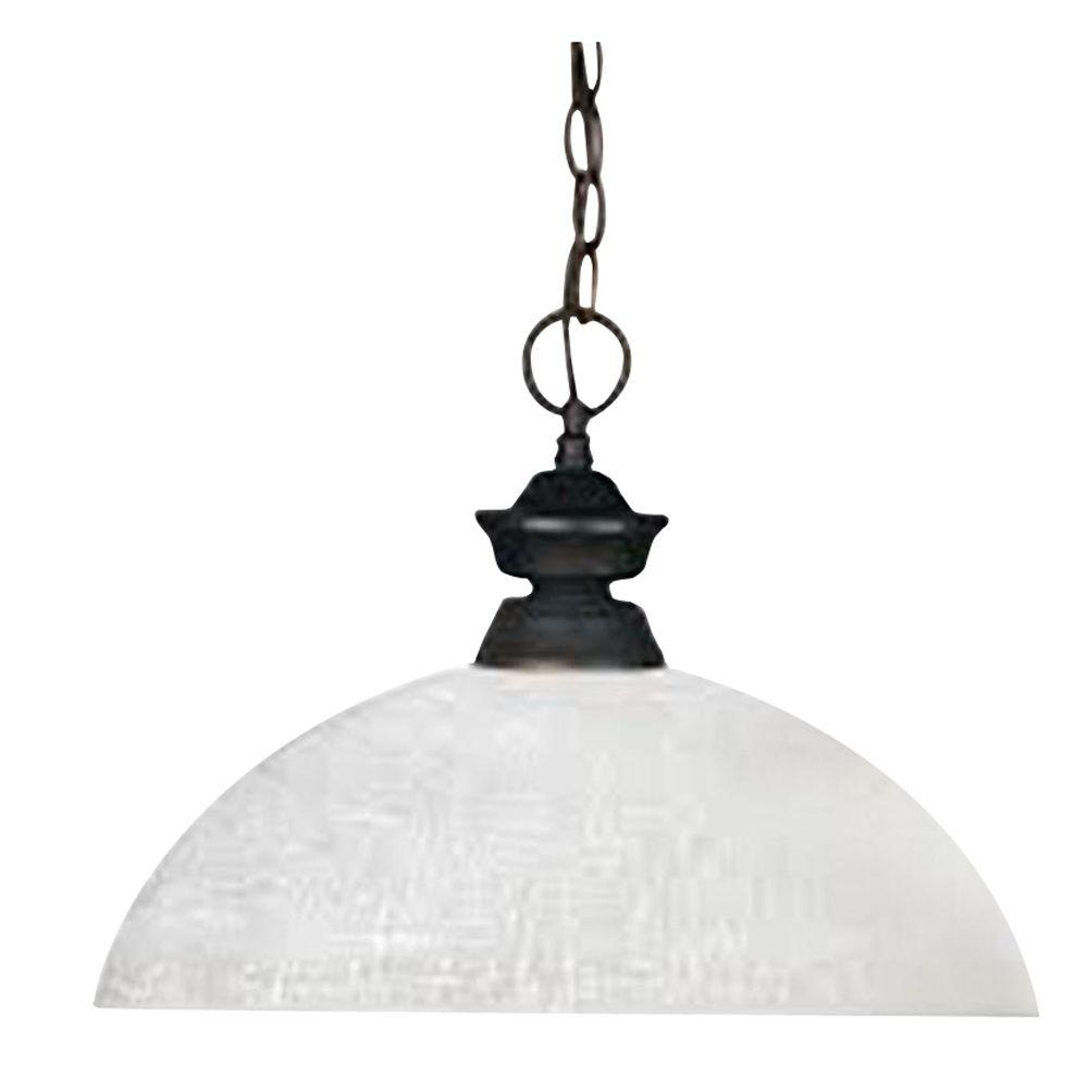 Filament Design Lawrence 1-Light Olde Bronze Incandescent Ceiling Pendant