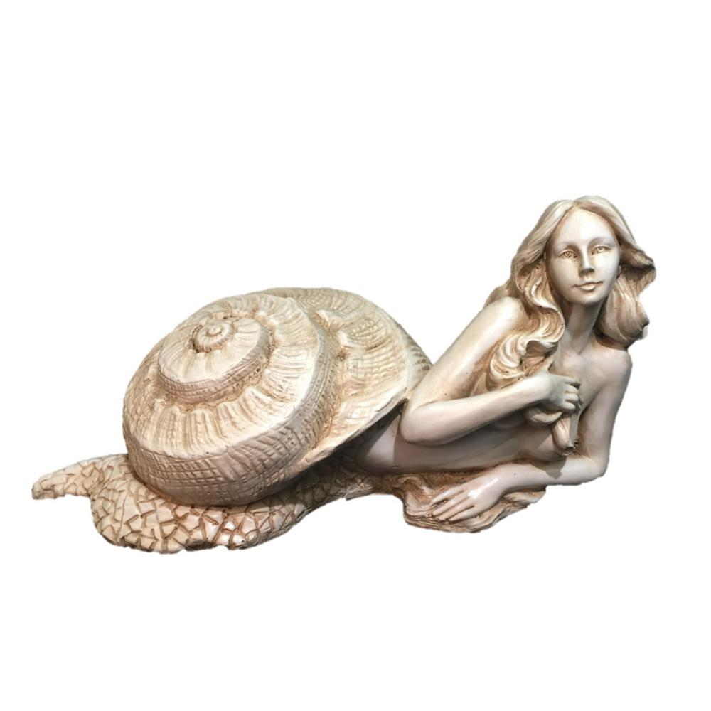 12 in. Antique White Sao Sexy Sea Snail Mermaid in Her
