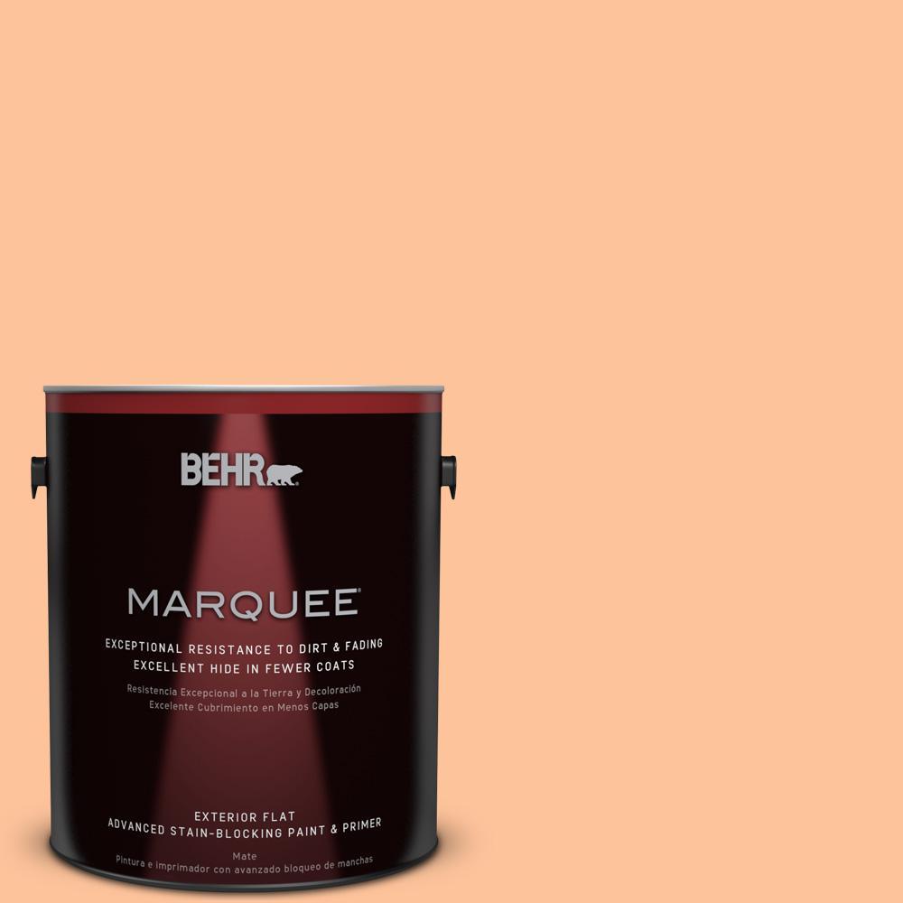 BEHR MARQUEE 1-gal. #260B-4 Orange Sherbet Flat Exterior Paint