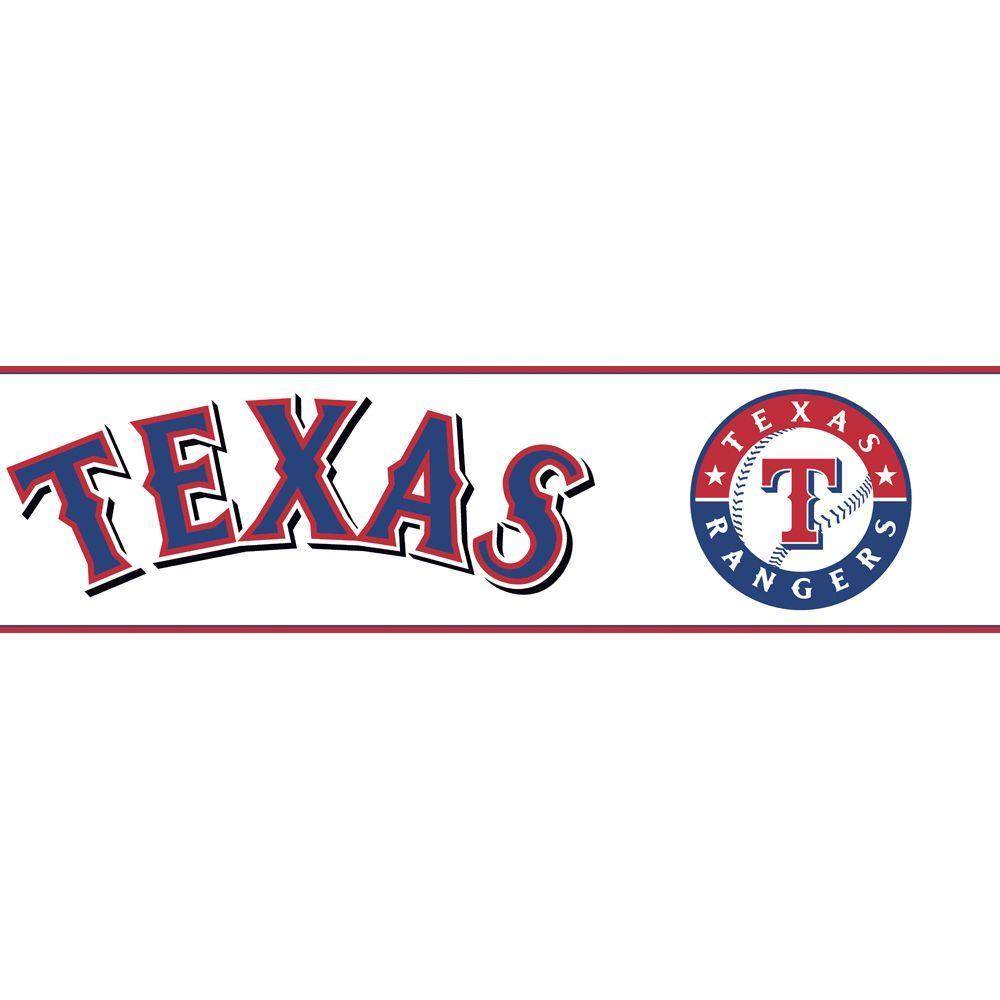 Major League Baseball Boys Will Be Boys II Texas Rangers Wallpaper Border