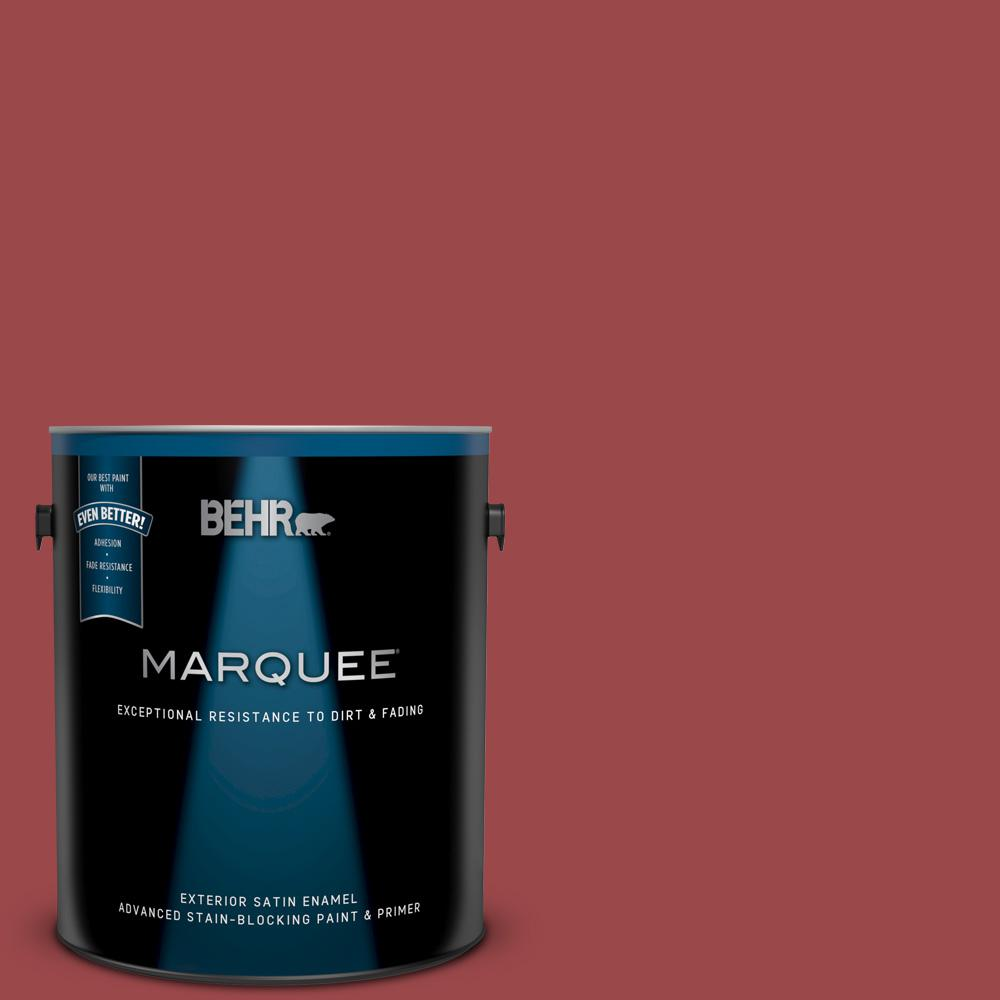 Behr Marquee 1 Gal Ecc 10 3 Holly Berry Satin Enamel Exterior Paint And Primer In One 945301 The Home Depot