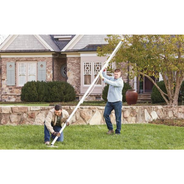 Ezpole Classic 17 Ft Sectional Flagpole Kit With Rope Ezc17 The Home Depot