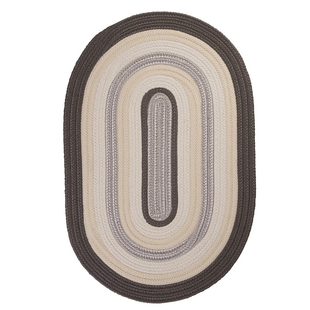 Home Decorators Collection Frontier 2 ft. x 12 ft. Grey Braided Runner Rug