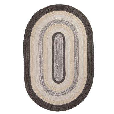 Frontier 5 ft. x 8 ft. Grey Braided Area Rug