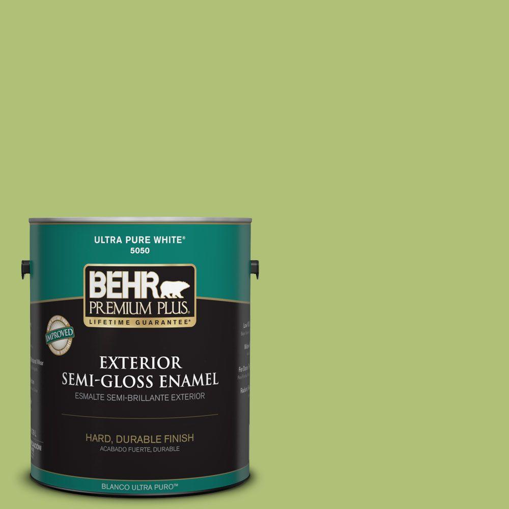1-gal. #HDC-SM14-5 Lavish Lime Semi-Gloss Enamel Exterior Paint