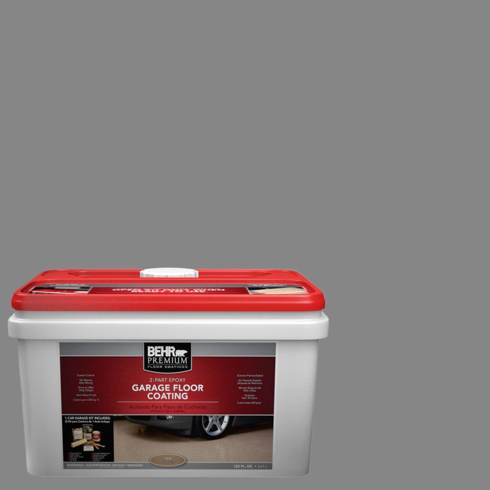 BEHR Premium 1-gal. #PFC-63 Slate Gray 2-Part Epoxy Garage Floor Coating Kit